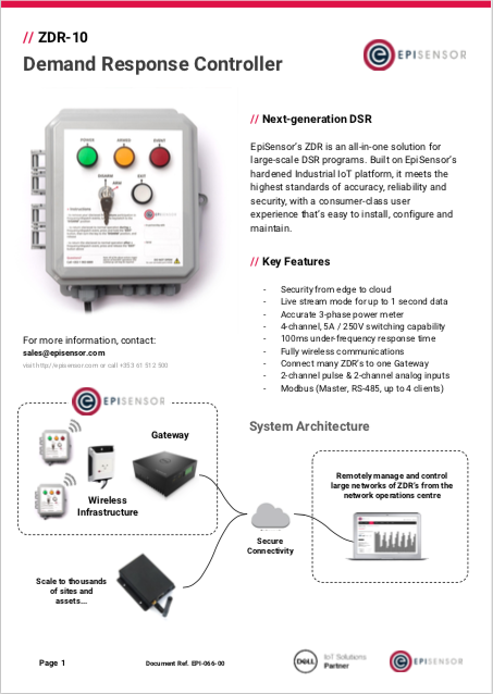 EpiSensor ZDR datasheet, virtual power plant hardware